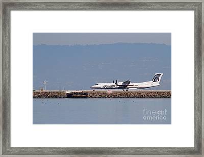 Horizon Airlines Jet Airplane At San Francisco International Airport Sfo . 7d11986 Framed Print