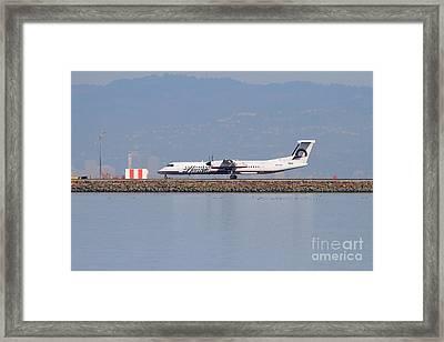 Horizon Airlines Jet Airplane At San Francisco International Airport Sfo . 7d11988 Framed Print
