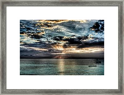 Framed Print featuring the photograph Horizon by Andrea Barbieri