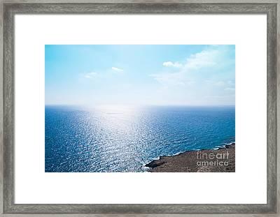 Horizon Framed Print by Boris Suntsov