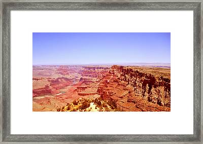 Framed Print featuring the photograph horizon in Grand Canyon by Rima Biswas