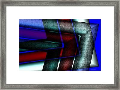 Horizontal Symmetry Framed Print by Mario Perez