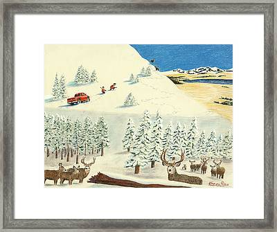 Horn Hunters Framed Print by Tim Koziol