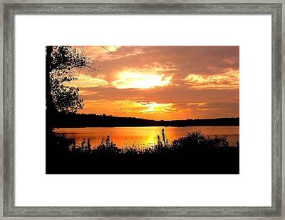Horn Pond Sunset 2 Framed Print
