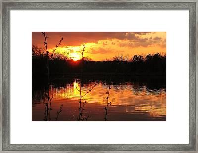 Horn Pond Sunset 8 Framed Print