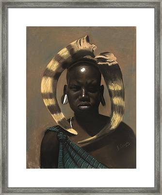 Horn Seller Framed Print by L Cooper