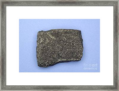 Hornblende Schist Framed Print by Ted Kinsman