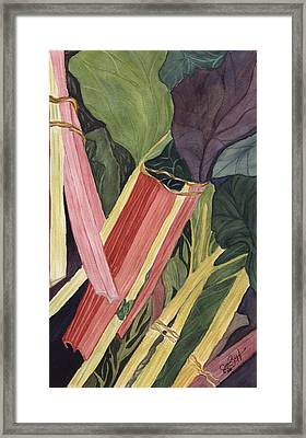 Framed Print featuring the painting Hornby's Rhubarb Pie by Joan Zepf