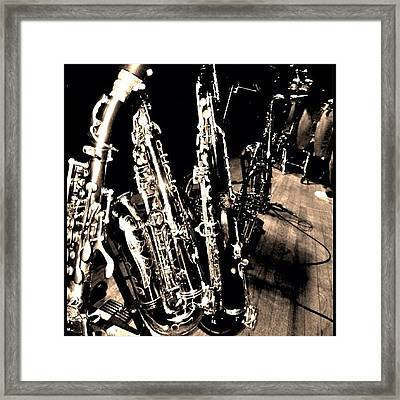Horns #horns #housemusic #jazz #music Framed Print