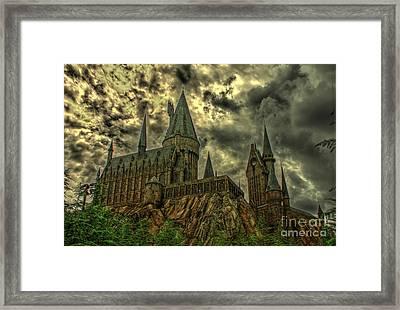 Horror Castle Framed Print by Ines Bolasini