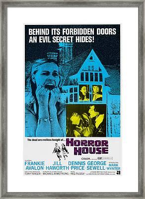 Horror House, Aka The Haunted House Of Framed Print by Everett