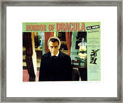 Horror Of Dracula, Christopher Lee, 1958 Framed Print