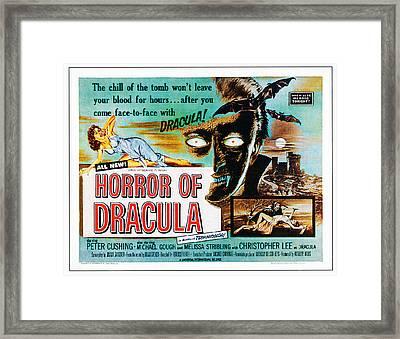 Horror Of Dracula, Poster Art, 1958 Framed Print by Everett