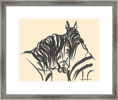 Horse - Together 9 Framed Print by Go Van Kampen
