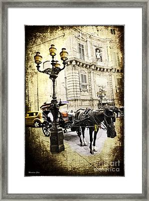 Horse And Buggy - Palermo Framed Print by Madeline Ellis
