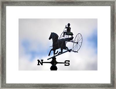 Horse And Buggy Weather Vane Framed Print by Bill Cannon