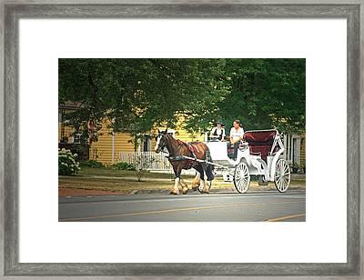 Horse And Carriage Framed Print by Cyryn Fyrcyd