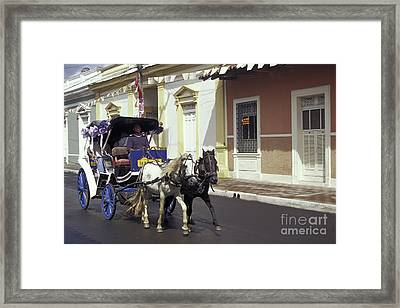 Horse And Carriage Granada Nicaragua Framed Print by John  Mitchell