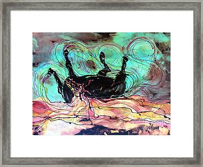 Horse Born Of Earth Water Sky Framed Print by Carol Law Conklin