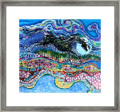 Horse Born Of Moon Energy Framed Print by Carol Law Conklin