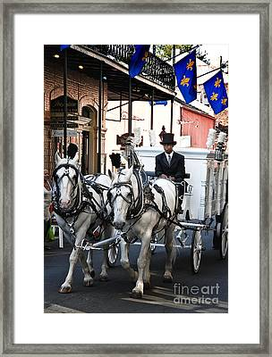 Horse Drawn Carriage Color Framed Print by Kathleen K Parker