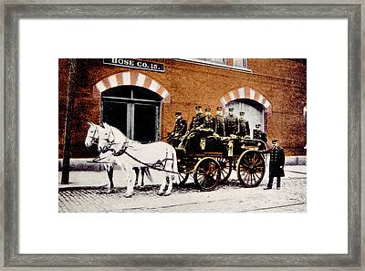 Horse-drawn Fire Engine, Provincetown Framed Print by Everett