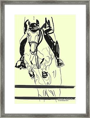 Horse-jumping Framed Print by Go Van Kampen