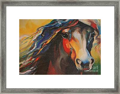 Horse Painting Framed Print