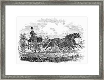 Horse Racing, 1862 Framed Print by Granger