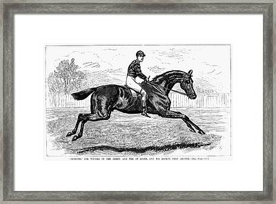 Horse Racing, 1880s Framed Print by Granger