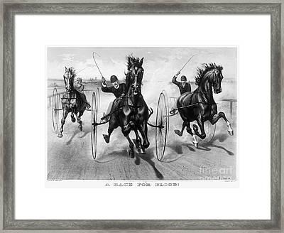 Horse Racing, 1890 Framed Print by Granger