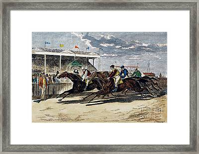 Horse Racing, Ny, 1879 Framed Print by Granger