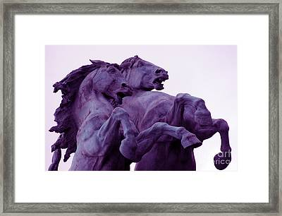 Horse Sculptures Framed Print by Angel  Tarantella