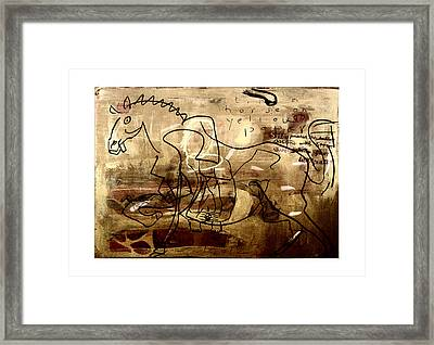Horse - Sept 2012 Framed Print by Peter Szabo