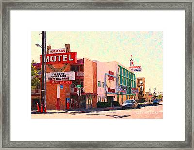 Horse Shoe Motel Framed Print by Wingsdomain Art and Photography