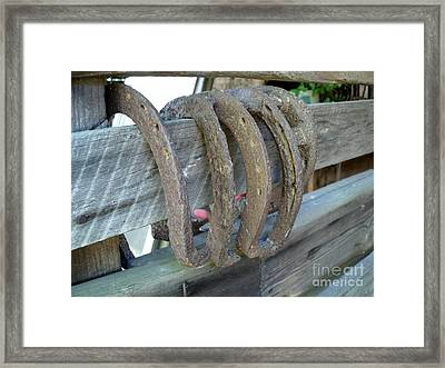 Horse Shoes Framed Print by Kerri Mortenson