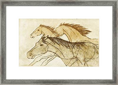 Framed Print featuring the drawing Horse Sketch by Nareeta Martin
