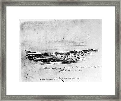 Horse Slaughter Camp 1858 Framed Print by Granger