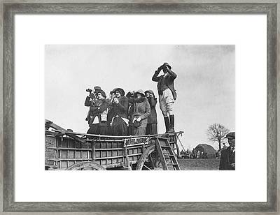Horse Watching Framed Print by Topical Press Agency