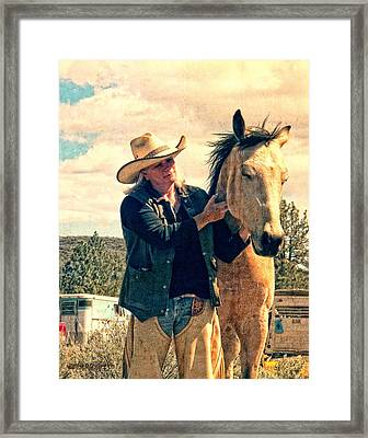 Framed Print featuring the digital art Horse Whisperer by Rhonda Strickland