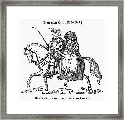 Horseback Riders, C1610 Framed Print by Granger