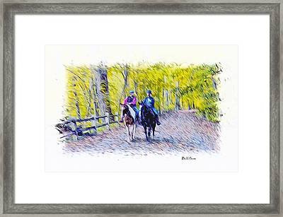 Horseback Riding  Framed Print by Bill Cannon