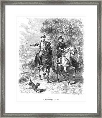 Horseback Riding, C1875 Framed Print by Granger