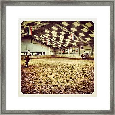 Horsebackriding Framed Print