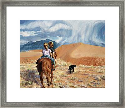 Horsefeathers Framed Print