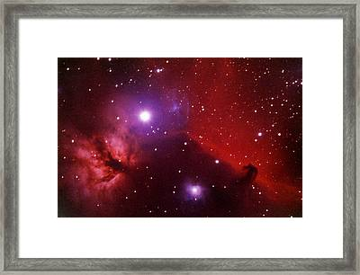 Horsehead Nebula In The Belt Of Orion Framed Print