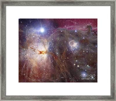 Horsehead Nebula Region In Infrared Framed Print by Robert Gendler