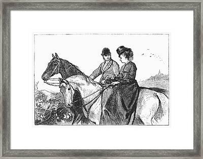 Horseriders, 1873 Framed Print by Granger