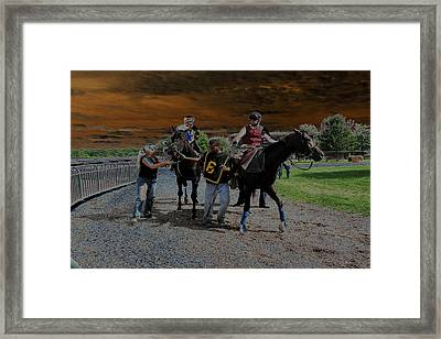Framed Print featuring the digital art Horses 001 by Dorin Adrian Berbier