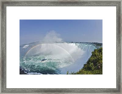 Horseshoe Falls And The Maid Framed Print by Darwin Wiggett